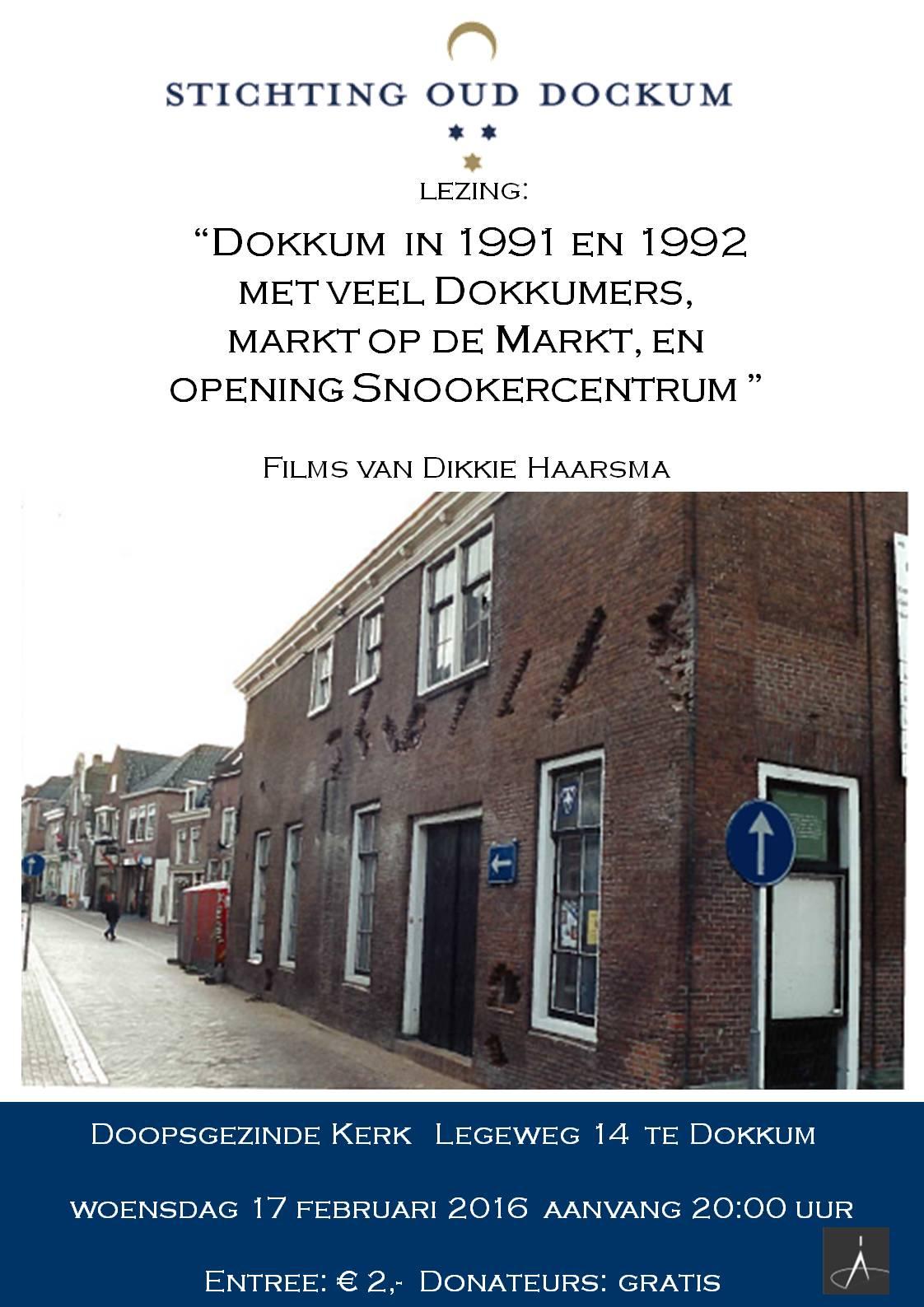 Dokkum in 1991 en 1992 poster
